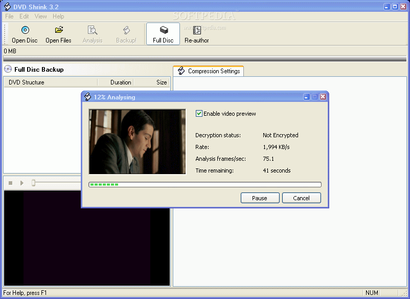 Full DVDShrink screenshot